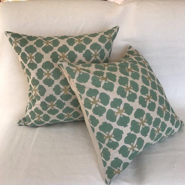 2010s Galbraith & Paul Linen Pillows - A Pair For Sale - Image 5 of 7
