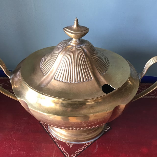 Brass Soup Tureen For Sale - Image 4 of 9