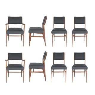 Set of Eight Maze Walnut Dining Chairs For Sale