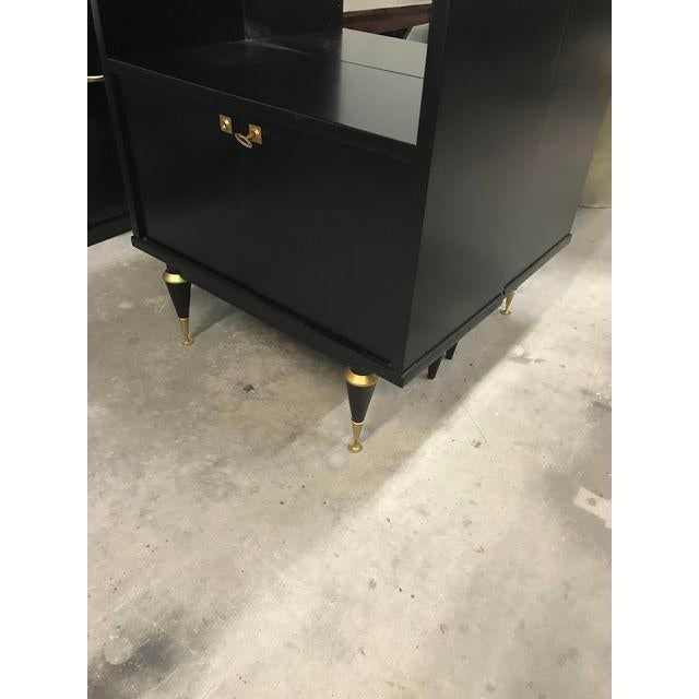 1940's French Art Deco Ebonized Dry Bar Cabinet For Sale - Image 10 of 13