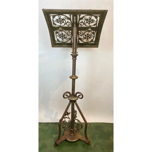 19th Century Brass Music Stand / Lectern For Sale - Image 4 of 13
