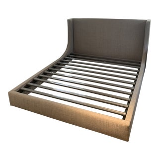 Room and Board Marlo California King Grey Cement Bed Frame For Sale