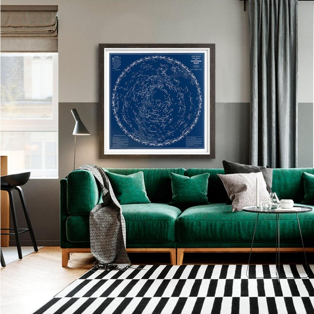 Our UNFRAMED archival reproduction print of the Rand McNally Star Chart of the Northern Skies is a sight to behold....