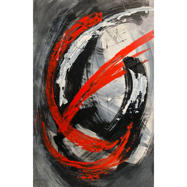"""""""Image of a Moment"""" Original Abstract Mixed Media Artwork by Marko Kratohvil For Sale In Los Angeles - Image 6 of 6"""