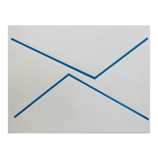 "Original Acrylic Painting ""Blue Lines"""