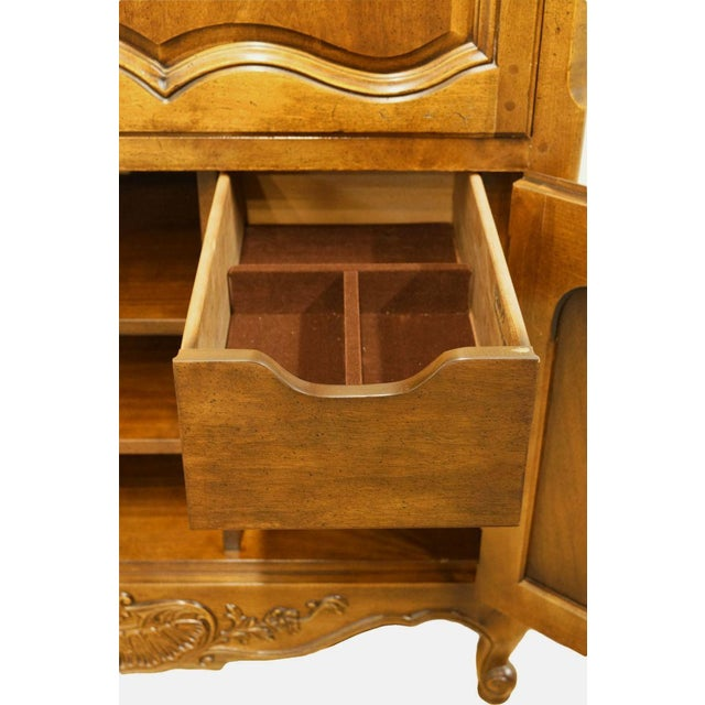 Wood 20th Century Traditional Henredon Furniture Media Armoire Cabinet For Sale - Image 7 of 10