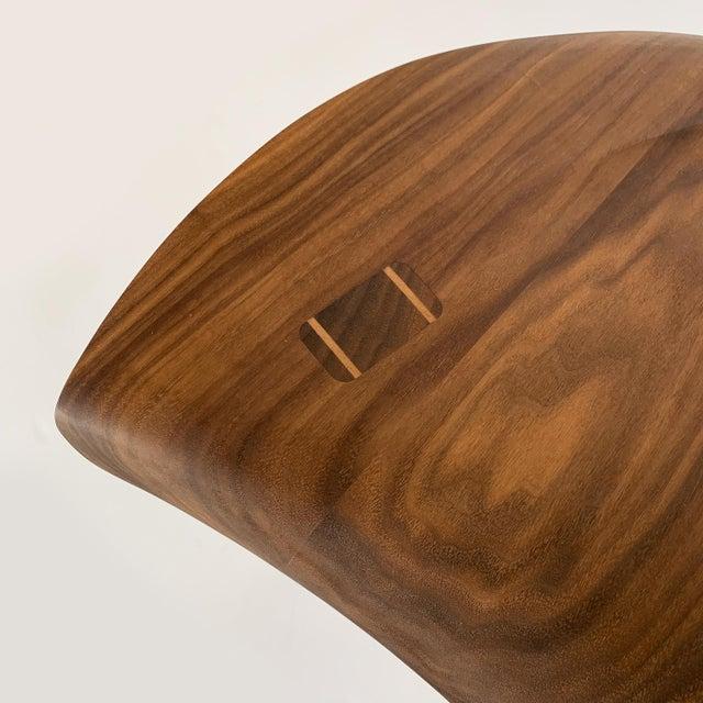 "Sculptural Walnut ""Whale"" Chair Morten Stenbaek For Sale - Image 11 of 13"