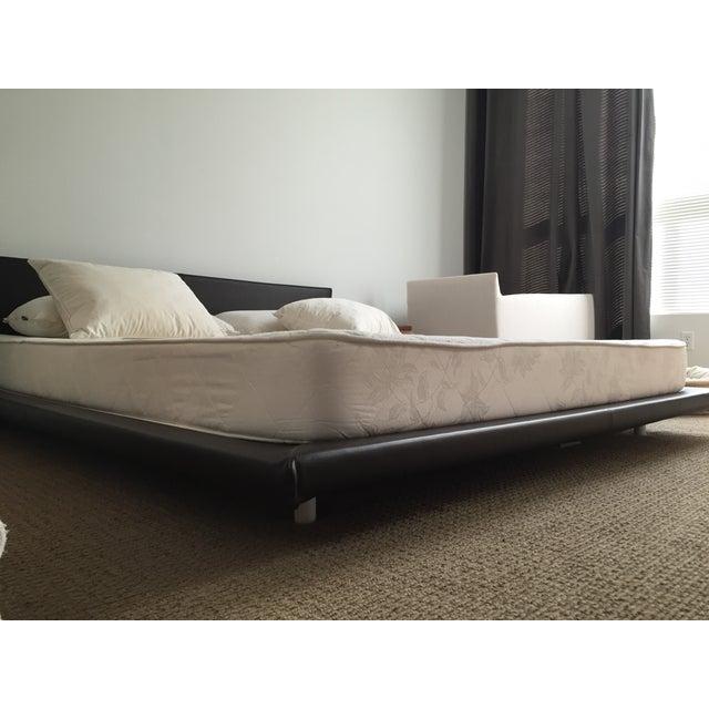 King Size Leather Platform Bed - Image 5 of 9