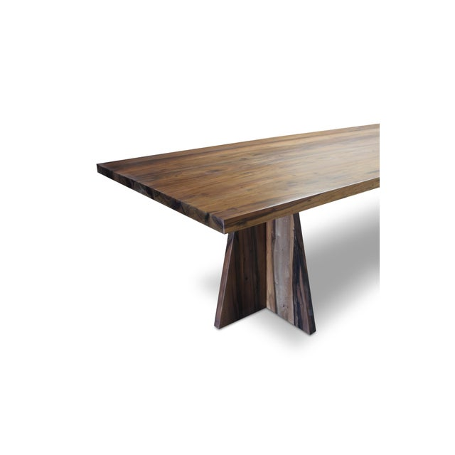 Wood Costantini Solid Argentine Rosewood Twin Pedestal Luca Table For Sale - Image 7 of 8