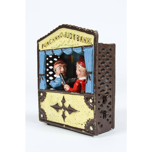 Cast Iron Cast Iron Punch and Judy Bank For Sale - Image 7 of 8