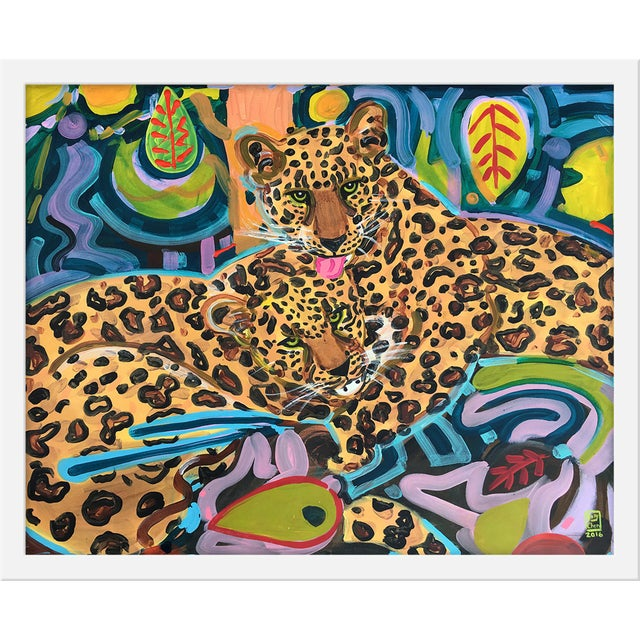 """Medium """"Jaguars"""" Print by Jelly Chen, 22"""" X 18"""" For Sale"""