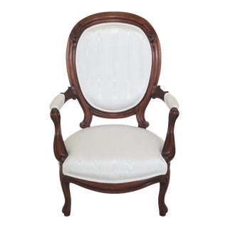 Late 19th Century Antique American Victorian Parlor Armchair For Sale