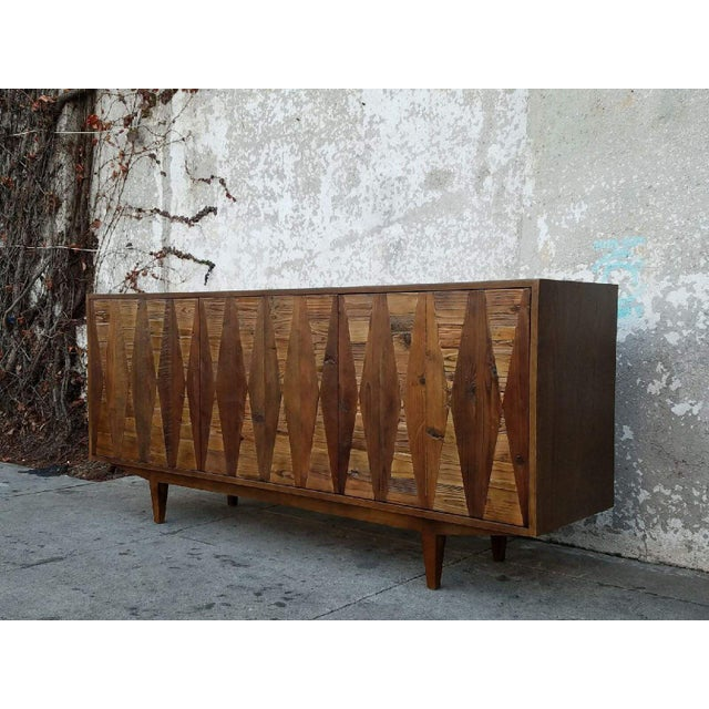 Diamond Modern Rustic Credenza For Sale - Image 4 of 6