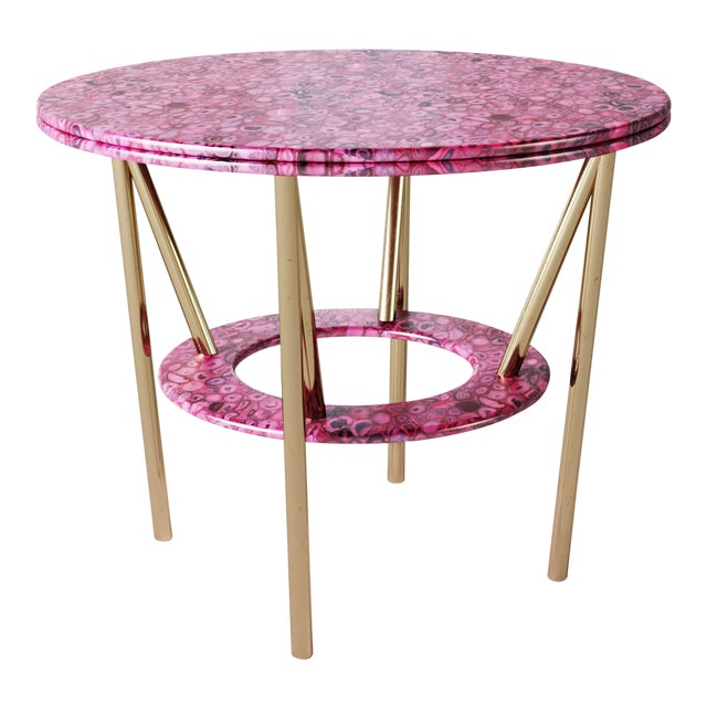 21st Century Custom Made Contemporary Around We Go Foyer Table For Sale