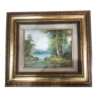 Late 20th Century Clara Inness Original Signed Oil Painting For Sale