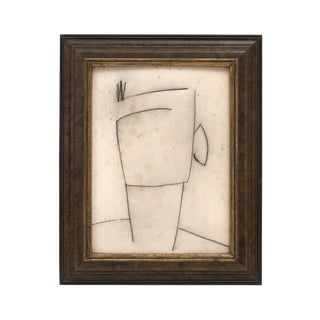 Abstract Figural Charcoal Drawing by Jean Marc Louis For Sale