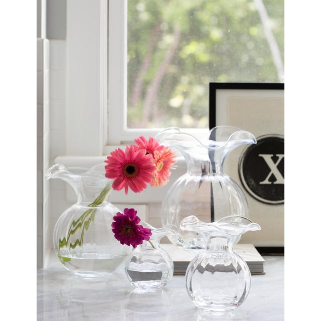 Mouthblown in Italy, the Hibiscus Medium Fluted Glass Vase expresses joy and happiness, inspired by the delicate Hibiscus...