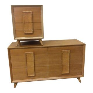 Faux Bamboo Dresser & Nighstand For Sale
