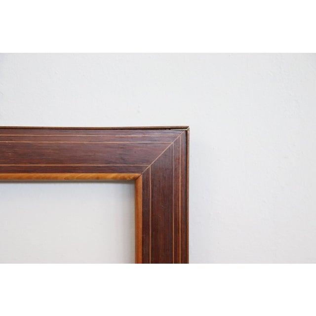 19th Century Italian Charles X Inlay Walnut Wood Frame For Sale - Image 4 of 6