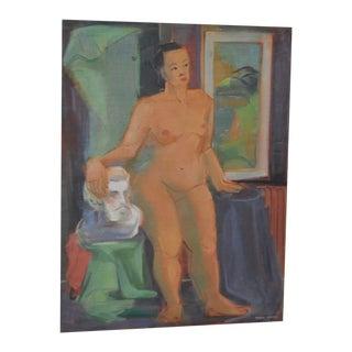 1940's Figurative Nude Study by Nancy Larsen For Sale