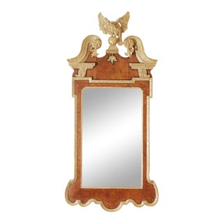 Georgian Mahogany Parcel-Gilt Eagle Mirror For Sale