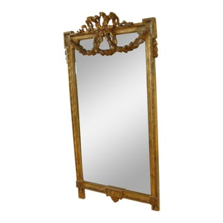 18th Century Antique French Gilt Frame Mirror For Sale