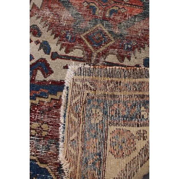 """Antique Persian Rug - 2'9"""" x 4'5"""" - Image 9 of 9"""