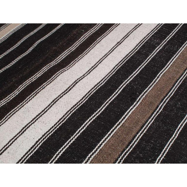 Animal Skin Large Kilim with Vertical Bands For Sale - Image 7 of 7