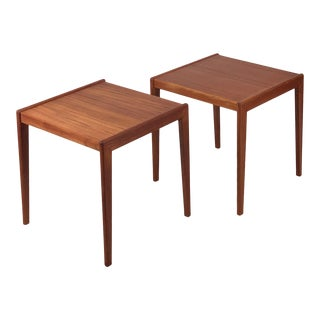 Vintage Danish Teak End Tables - a Pair For Sale