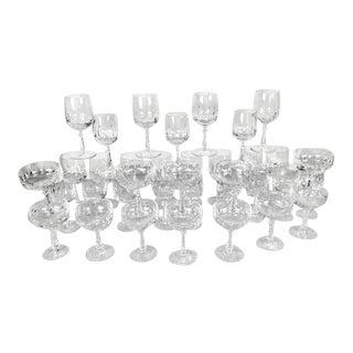Nachtmann 'Royal Tivoli' Lead Crystal Stemware Glasses - Set of 36 For Sale