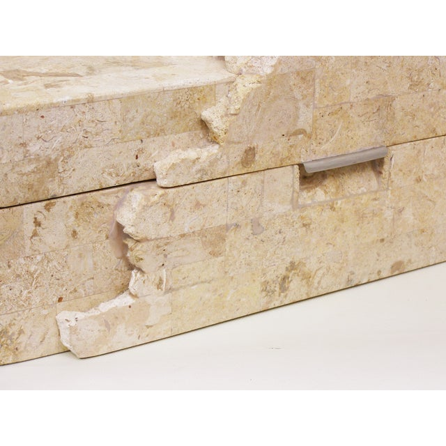 Maitland - Smith Maitland-Smith Vintage Travertine Marble Box For Sale - Image 4 of 11