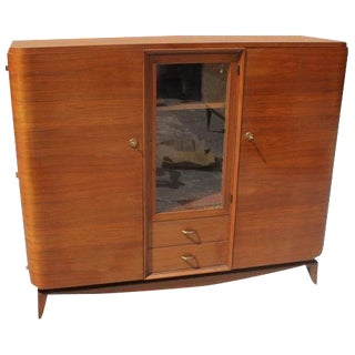 1940s French Art Deco Solid Mahogany Maxime Old Bookcase For Sale