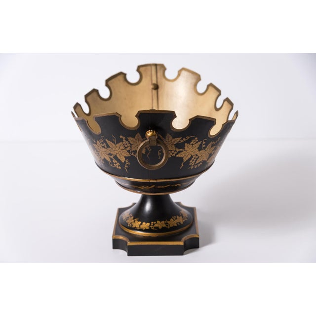 Antique Pair of French Neoclassical Tole Footed Monteith Bowl, Compote, Chillers. Called in France, Rafraichissoire or...