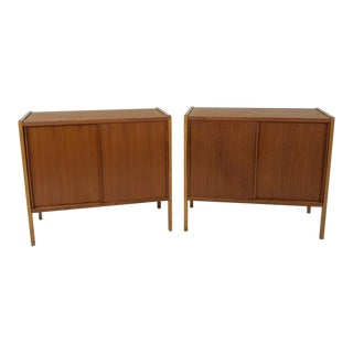 Pair of Teak Cabinets/Nightstands by Dux For Sale