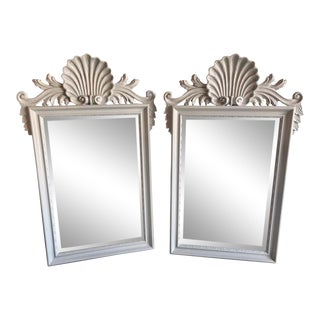 Hollywood Regency Labarge Wall or Console Mirrors, Italian - a Pair For Sale