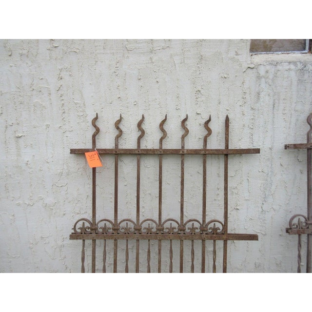 Antique Victorian Iron Gate Architectural Salvage Door For Sale - Image 4 of 7