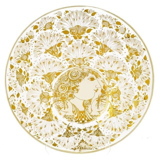Bjorn Wiinblad Glass Art Bowl for Jahresteller