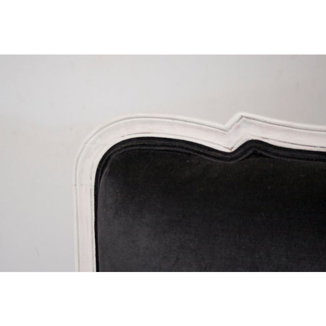 Antique Louis Canapé Black Velvet Sofa - Image 6 of 10