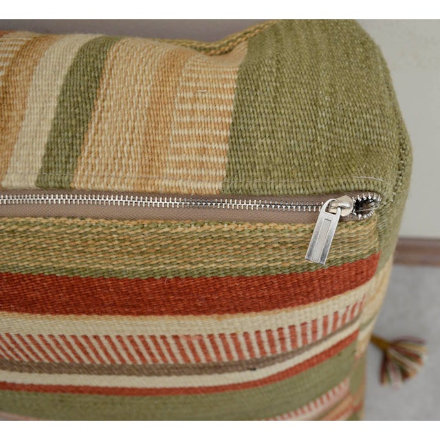 Turkish Hand Woven Floor Cushion Cover - Image 8 of 8