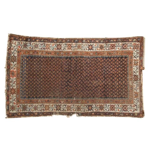 "Vintage Hamadan Rug - 3'7"" X 6' For Sale - Image 12 of 12"