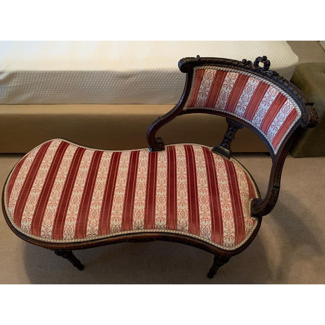 1930s Vintage Hepplewhite-Style Chaise For Sale - Image 9 of 9
