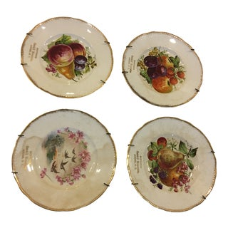 Catskill Mountains Porcelain Souvenir Plates - Set of 4 For Sale
