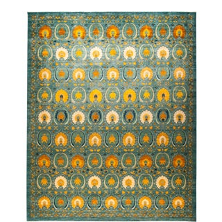 """Suzani Hand-Knotted Area Rug 12' 2"""" x 15' 1"""" For Sale"""
