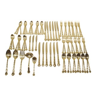 80 Piece Reed & Barton Sterling Silver Tara Service for 12 With Serving Pieces For Sale