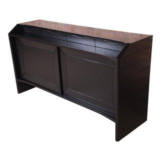 Harold Schwartz for Romweber Ebonized Bar Cabinet, Newly Refinished For Sale