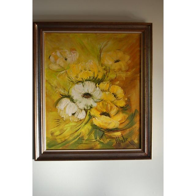 Mid Century Hollywood Regency Poppy Painting - Image 2 of 9