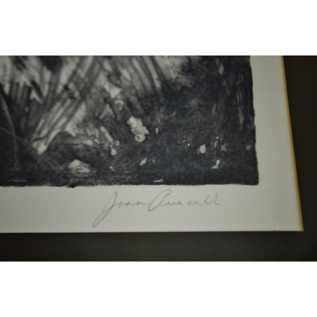 """A Summer Place"" Vintage Framed Joan Purcell Signed Lithograph For Sale In Philadelphia - Image 6 of 11"
