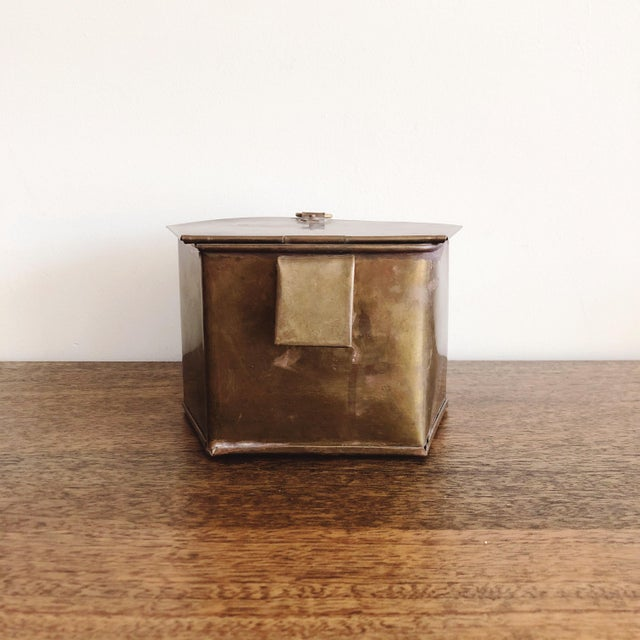 1960s 1960s Hanging Brass Planter / Mail Bin For Sale - Image 5 of 8