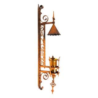 Continental Wrought Copper Sanctuary Lantern For Sale