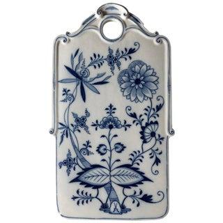 Late 19th Century Meissen Porcelain Blue Onion Cutting Board
